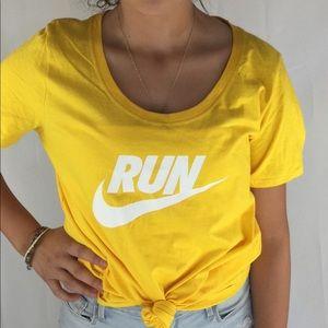 Nike Tops | Yellow Nike Womens Casual T